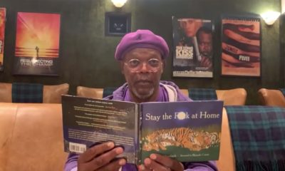 Samuel L. Jackson reads Stay the F**k at Home coronavirus book on Jimmy Kimmel